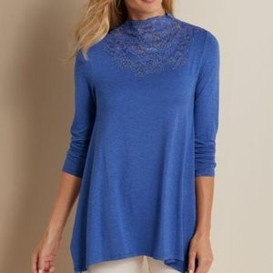 Soft Surroundings Tamora Lace Top- NWT